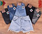 LEVIS DENIM SHORTS VINTAGE 501 WOMENS HIGH WAISTED HOTPANTS 6 8 10 12 14 16