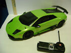 LARGE 1/18 SCALE 27 MHz GREEN LAMBOGHINI w/ TRANSMITTER / BATTERY / CHARGER