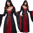 CA109 Deluxe Red Hooded Robe Gothic Vampire Vampiress Witch Halloween Costume