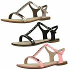 Ladies Clarks Sail Festival Pink, Black Or Metallic Strappy T-Bar Summer Sandals