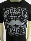 Chubby's Wild Mustache Ride funny party short sleeve tee shirt men's