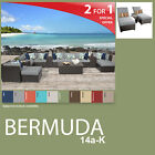 Bermuda 17 Piece Outdoor Wicker Patio Package BERMUDA-14a-K - Grey