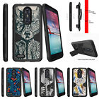 For  ZTE Z MAX PRO | ZMAX Pro Carry Z981 Holster Clip Stand Case Wolf Drawing