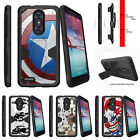 For  ZTE Z MAX PRO | ZMAX Pro Carry Z981 Holster Clip Stand Case Shield Hero