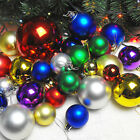 24Pcs Glitter Christmas Balls Baubles Xmas Tree Hanging Wedding Ornament Decor