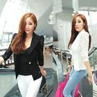NEW Womens Suit Slim Blazer Jacket Coat OL/Casual/Business Outerwear Black TXWD