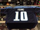 Vince Young Tennessee Titans NFL Reebok AUTHENTIC Navy Jersey = 56(3x)