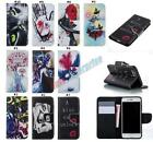 Pattern PU Leather Wallet Cellphone Skin Card Case Cover For Samsung Galaxy S4