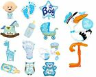 New Baby Boy Baby Blue Shower Party Decoration Assorted Supershape Foil Balloon