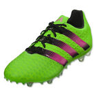 adidas Men's ACE 16.2 FG/AG Solar Green/Black/Shock Pink AF5266