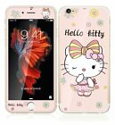 Lovely Hello kity Front + Back Tempered Glass Film for Apple iPhone 6 6S / Plus