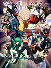 STICKER AUTOCOLLANT/POSTER/LAMINATED/MAGNET/CADRE A4.MANGA ONE PUNCH MAN SAITAMA