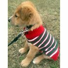 NEW PET SWEATER HOLIDAY GREEN RED WHITE CHRISTMAS SUPPLIES CLOTHES DOG STRIPE
