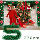 Garland Christmas Decoration Xmas Fireplace Mantel Tree Pine Green 2.7m X 25cm