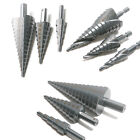 Step Cone Drill Hole Cutter Bit Spiral / Straight Groove Drilling Set HSS4241