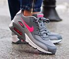 New Girls NIKE Air Max 90 Mesh (GS) 724856-007 Grey Pink White Sneakers