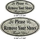 """Laser Engraved """"Please Remove Your Shoes"""" Home Business Door Sign"""