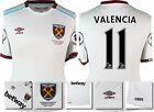 16 / 17 - UMBRO WEST HAM UNITED AWAY SHIRT SS + PATCHES VALENCIA 11 = KIDS SIZE