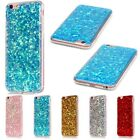 Silicone Bling Glitter Soft TPU Thin Cover Case For iPhone 5S 6 6S 7 Plus SE 8