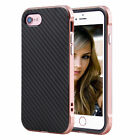 Shock-Absorption Bumper Carbon Fibre Pattern Soft Case Cover For iPhone 7/7Plus