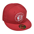 New Era Brooklyn Nets 59fifty NBA Men's Fitted Hat Cap Red/White