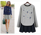 2 Piece Dress Autumn Long Sleeve Fall Dresses Plus Size 4XL Casual Sweater Dress