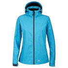Trespass Paulina Womens Blue Softshell Jacket Hooded Windproof Ladies Coat