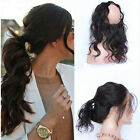 7A Grade 360 Lace Frontal Band Closure With Peruvian 3 Bundles Body Wave Hair