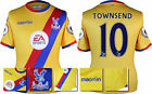 16 / 17  MACRON CRYSTAL PALACE AWAY SHIRT SS + PATCHES / TOWNSEND 10 SIZE = KIDS