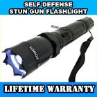 Metal MILITARY Stun Gun 499 MV Tactical Rechargeable LED Flashlight + Case NEW