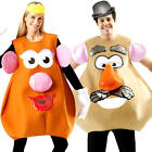 Mrs or Mr Potato Head Fancy Dress Disney Toy Story Character Adults Costume New