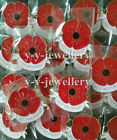 2017 Bulk Banquet Enamel Remembrance Gifts Poppy Brooches Pin Metal Broach Badge