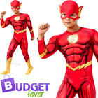 Deluxe The Flash Boys Superhero Fancy Dress Comic Book Day Kids Childs Costume