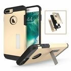 2 in 1 Armor Phone Cover Kickstand Back Case Shell for iPhone Samsung Phones