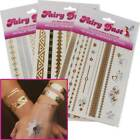Temporary Tatto Sheet- Metallic Tattoo Set- Party/Present/Gift: FREE DELIVERY