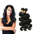 3 Bundles Malaysian Human Hair Extensions Body Wave Weft Virgin Remy Natural 7A