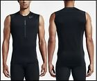 NWT$55 Men L Nike Pro Hyperwarm Fitted 1/2Zip Sleeveless Tactical Training Shirt