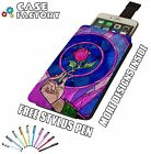 Sleeping Beauty Beast Rose Stained - Universal Leather Pouch Phone Case Cover