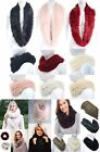 Super Soft Snood Fine Faux Fur Chunky Knit Scarf Twist Single Loop Double *LICK*