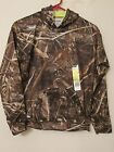 NEW BOY'S MOSSY OAK FLEECE LINED BROWN/GREEN CAMO HOODED SWEATSHIRT (HOODIE)