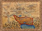 NEW Better BONANZA MAP best EVER new source CLEAR SHARP PONDEROSA poster print