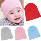 Baby Warm Plain Skull Cap Beanie Candy Solid Color Knit Wool Crochet Slouch Hat