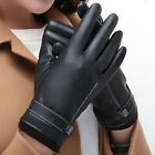 Waterproof Touch Screen Gloves Lover PU Leather Gloves Sports Warm Winter Mitten