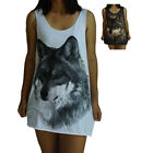 Unisex Wolf Vest Tank Top Singlet Dress Sleeveless T-Shirt