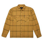 Brixton Archie Long Sleeve Flannel Shirt Washed Yellow