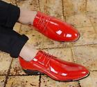 Men's Lace up patent leather Formal  Driving Moccasin Wedding Dress Shoes New YT
