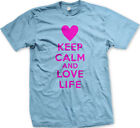 keep calm posters - Keep Calm And Love Life Heart Live Fullest Poster Enjoy <3 Your Do Men's T-Shirt