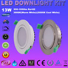 6X13W LED DIMMABLE DOWNLIGHT KIT ADJUSTABLE FIVE YEAR WARRANTY WARM/COOL WHITE