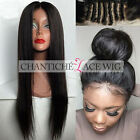 Brazilian Human Hair Lace Front Wigs African Americans Silky Straight Full Wig