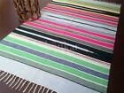 Bunkar Handmade Multicolor Stripes Reversible Cotton Dhurrie/Area Rug Size:5'x7'